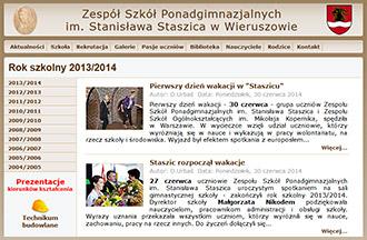Archiwalna witryna internetowa