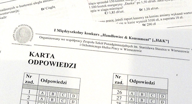 "I etap konkursu ""Handlowiec and Konsument"""