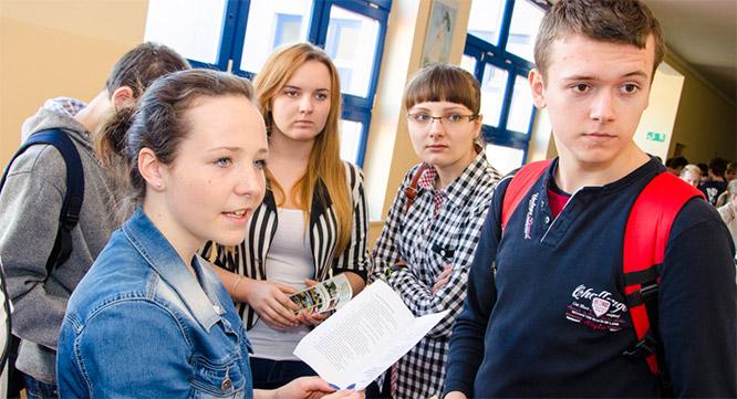 Spotkanie zgimnazjalistami zGalewic