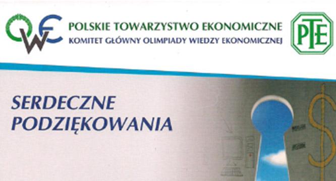 Zapraszamy doudziału wOlimpiadzie Wiedzy Ekonomicznej