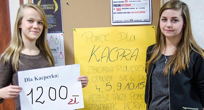 """1200 złotych dla Kacpra od""""Staszica"""""""