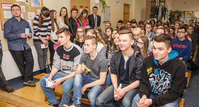 Wizyta wGimnazjum wGalewicach