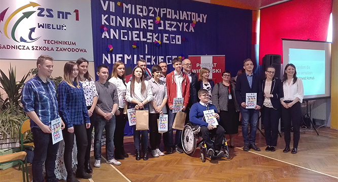 VII edycja Międzypowiatowego Konkursu zJęzyka Niemieckiego iAngielskiego wWieluniu