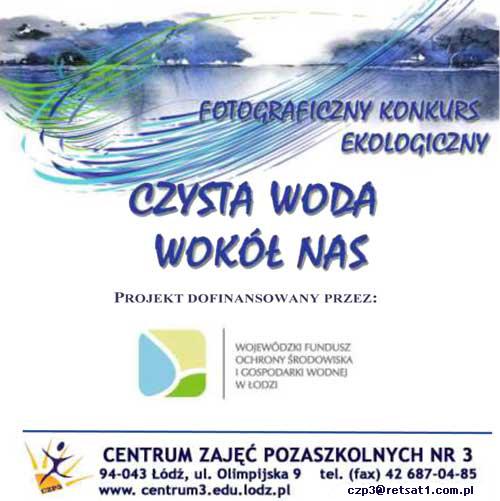 """Konkurs fotograficzny: """"Czysta woda wokół nas"""""""
