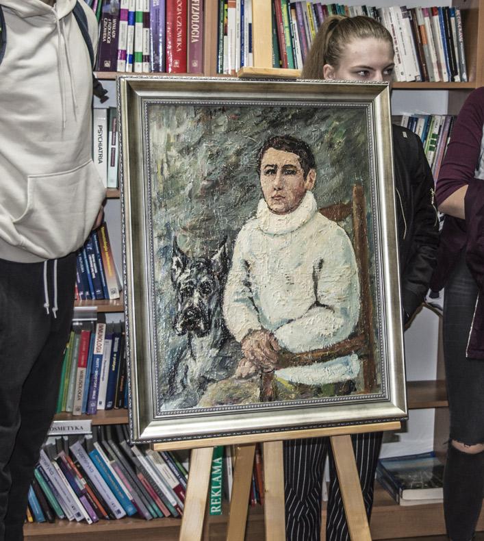 Udział wotwarciu wystawy malarstwa Jana Stencla