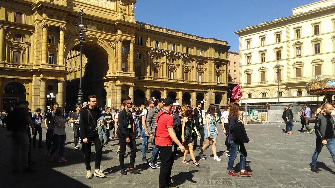 Erasmus+ – grupa włoska nawycieczce wFlorencji