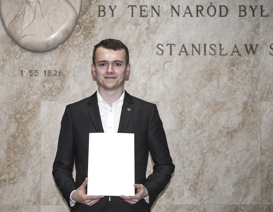 Tomasz Olszowiak – stypendystą Prezesa Rady Ministrów zarok szkolny 2018/2019