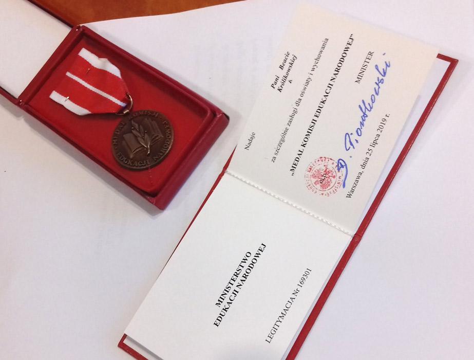 Gratulacje dla mgrinż.Beaty Królikowskiej