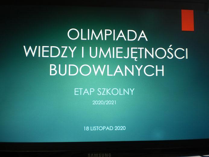 XXXIV edycji Olimpiady Wiedzy iUmiejętności Budowlanych