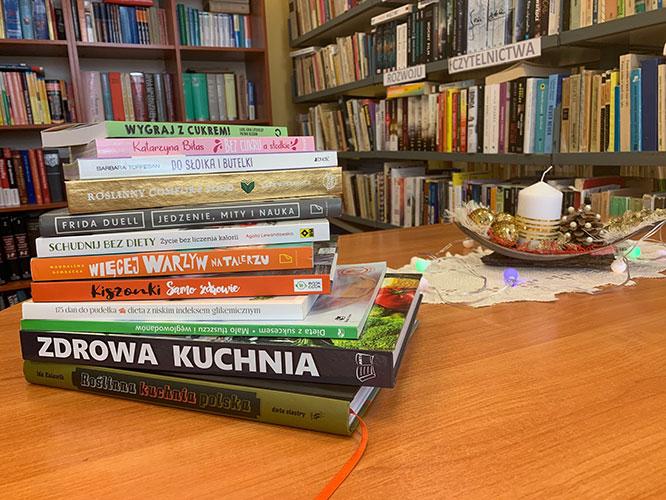 """""""Zdrowe odżywianie"""" – nowości czytelnicze wnaszej bibliotece"""