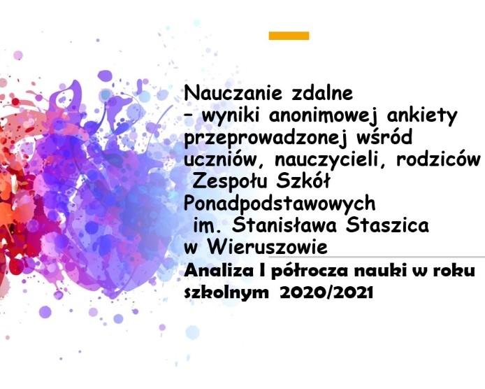 Diagnozowanie nauczania zdalnego wIpółroczu 2020/2021 – wyniki ankiet