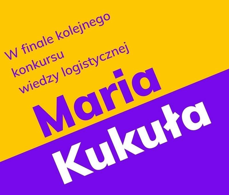 Kolejny sukces Marii Kukuły zklasy IV Technikum Logistycznego