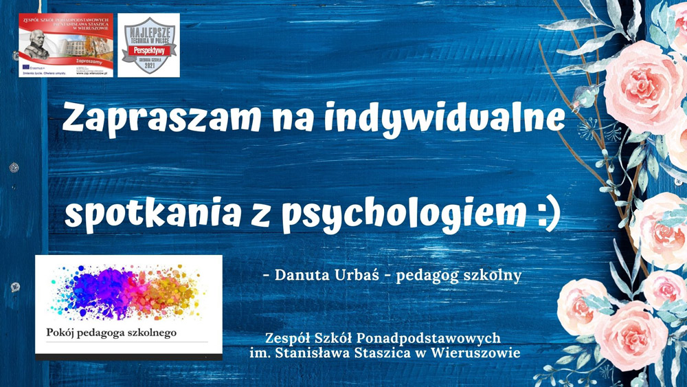 Konsultacje psychologiczne 1.06 i8.06.2021