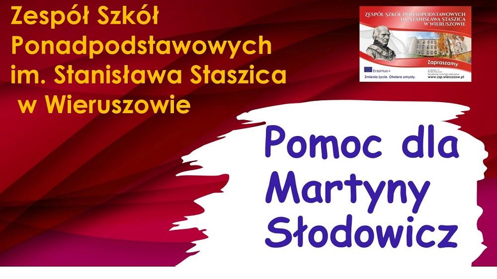 19, 20 i21 maja 2021 – zbiórka funduszy naleczenie Martyny, absolwentki naszej szkoły