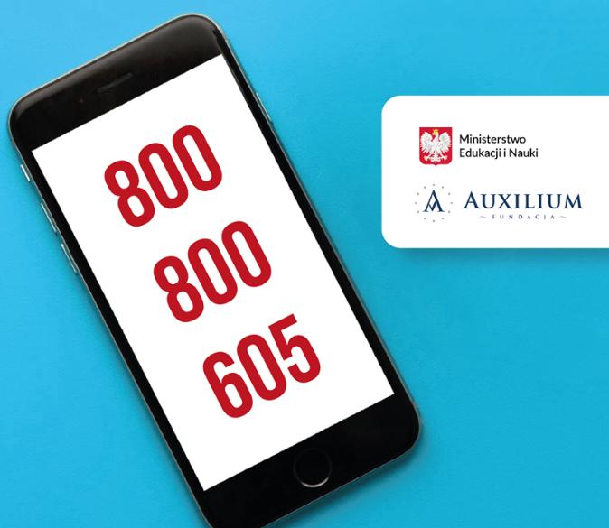 """800 800 605 – ruszyła całodobowa bezpłatna infolinia dla dzieci, młodzieży, rodziców ipedagogów """"Pomagamy"""""""
