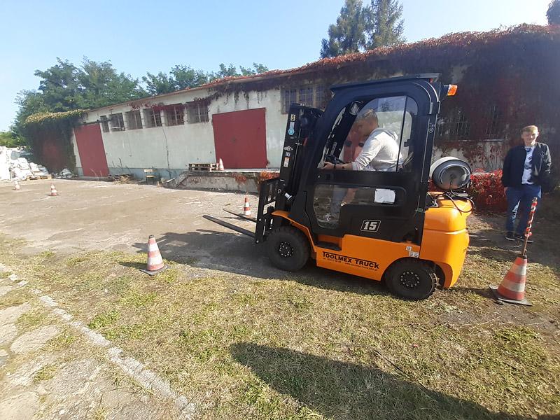 Zakończenie kursu Operatora wózków jezdniowych wOHP wWieruszowie